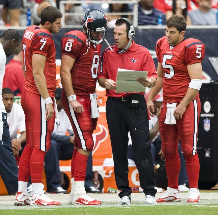The Texans won the final four games of their 2009 season to finish 9-7, the first winning campaign in franchise history. Photo: Brett Coomer , Houston Chronicle