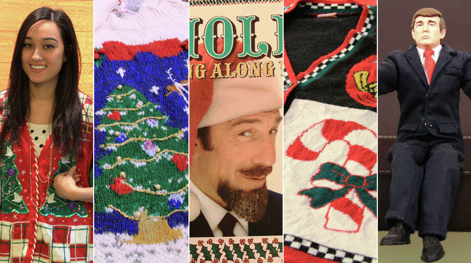 With Christmas upon us, Value Village shared photos of some of its most disturbing holiday offerings. Take a peek at some ugly holiday sweaters and white elephant gifts, then keep going for a look at the best (worst?) ugly holiday sweaters as worn by celebrities. Photo: Value Village