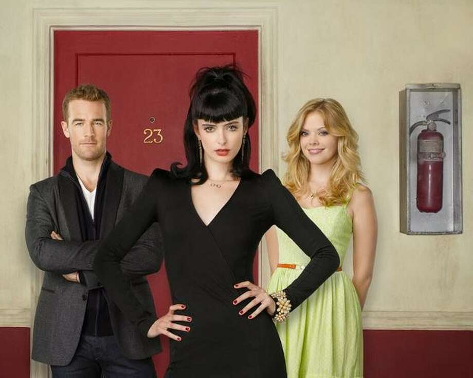 """DON'T TRUST THE B---- IN APARTMENT 23: ABC, 2012-2013  """"Don't Trust the B-----"""" was a provocative sitcom, and not just because of its naughty title. It starred Krysten Ritter, Dreama Walker and James Van Der Beek as  ... James Van Der Beek. Photo: Bob D'Amico, ABC / © 2012 American Broadcasting Companies, Inc. All rights reserved."""