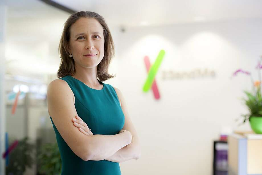 23andMe co-founder and CEO Anne Wojcicki says she remains committed to providing genetic information to patients without the need for a physician to interpret  the results. Photo: Peter Dasilva, New York Times