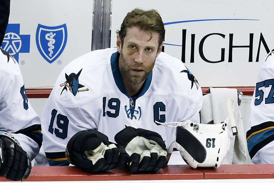 Team captain Joe Thornton has been an iron man for the Sharks since arriving via trade from Boston on Nov. 30, 2005. Photo: Gene J. Puskar, Associated Press