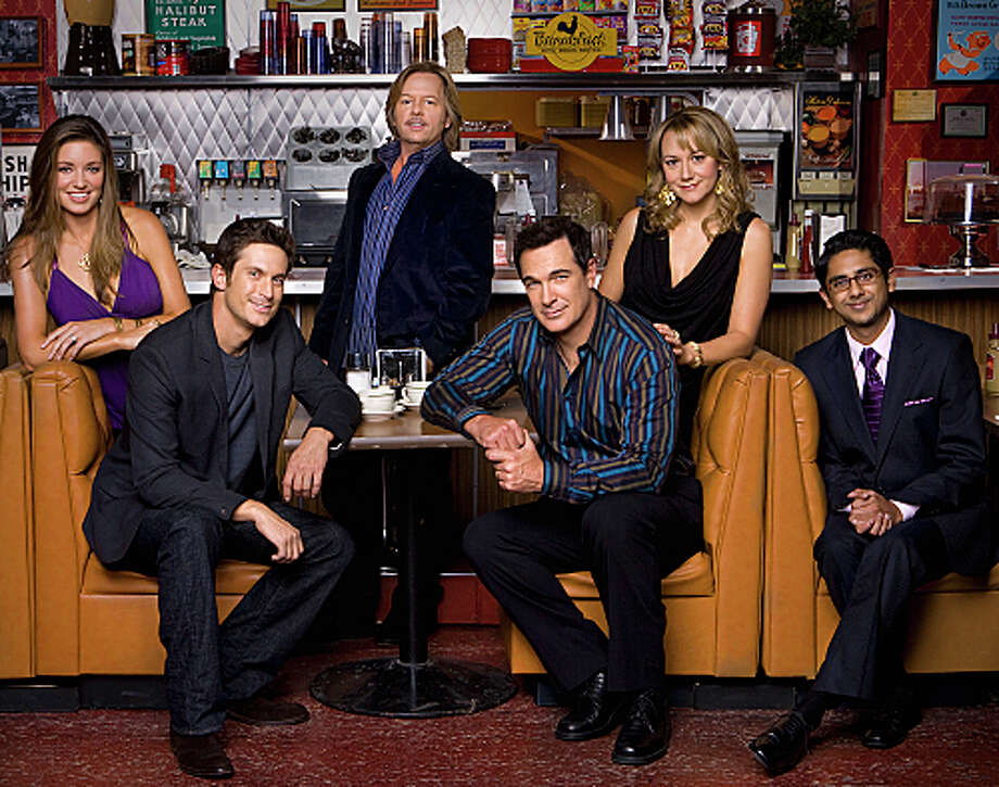 RULES OF ENGAGEMENT: CBS, 2007-2013  The David Spade, Patrick Warburton sitcom about a group of friends in different stages in their relationships lasted for 7 long seasons on CBS. Photo: MONTY BRINTON, CBS / CBS ENTERTAINMENT
