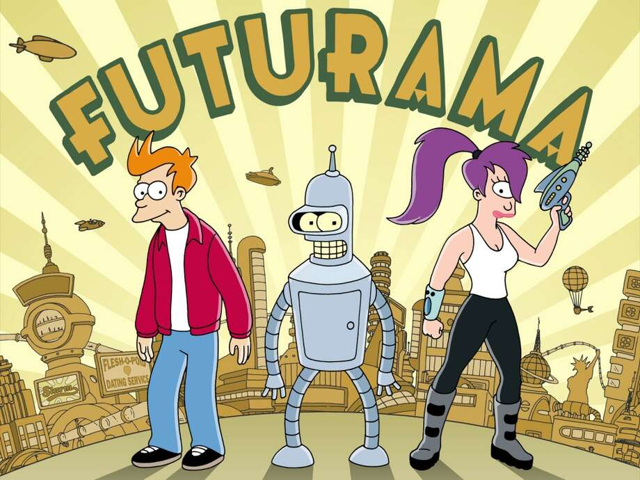 FUTURAMA: Comedy Central, 2008-2013; 1999-2003 (FOX)  After four erratic seasons on FOX, Futurama found a second life on Comedy Central after the original episodes found a loyal audience in syndication.