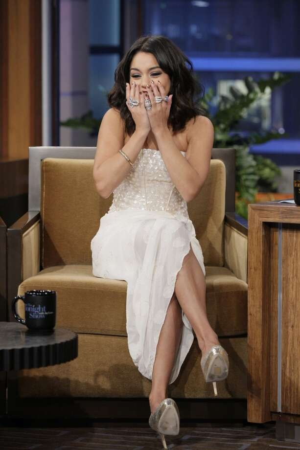 THE TONIGHT SHOW WITH JAY LENO -- Episode 4189 -- Pictured: Actress Vanessa Hudgens during an interview on February 1, 2012 -- Photo by: Stacie McChesney/NBC/NBCU Photo Bank Photo: NBC Via Getty Images