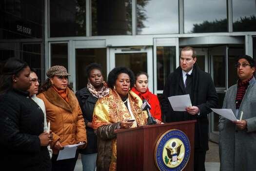 Congresswoman Sheila Jackson Lee also attended the vigil. Photo: Michael Paulsen, Houston Chronicle / © 2013 Houston Chronicle