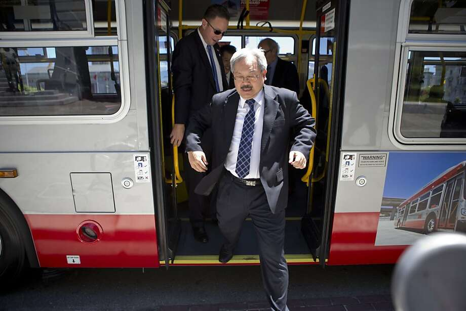 Mayor Ed Lee wants to triple San Franciscans' vehicle license fee to upgrade Muni, but a new poll says most voters are opposed. Photo: Beck Diefenbach, Special To The Chronicle
