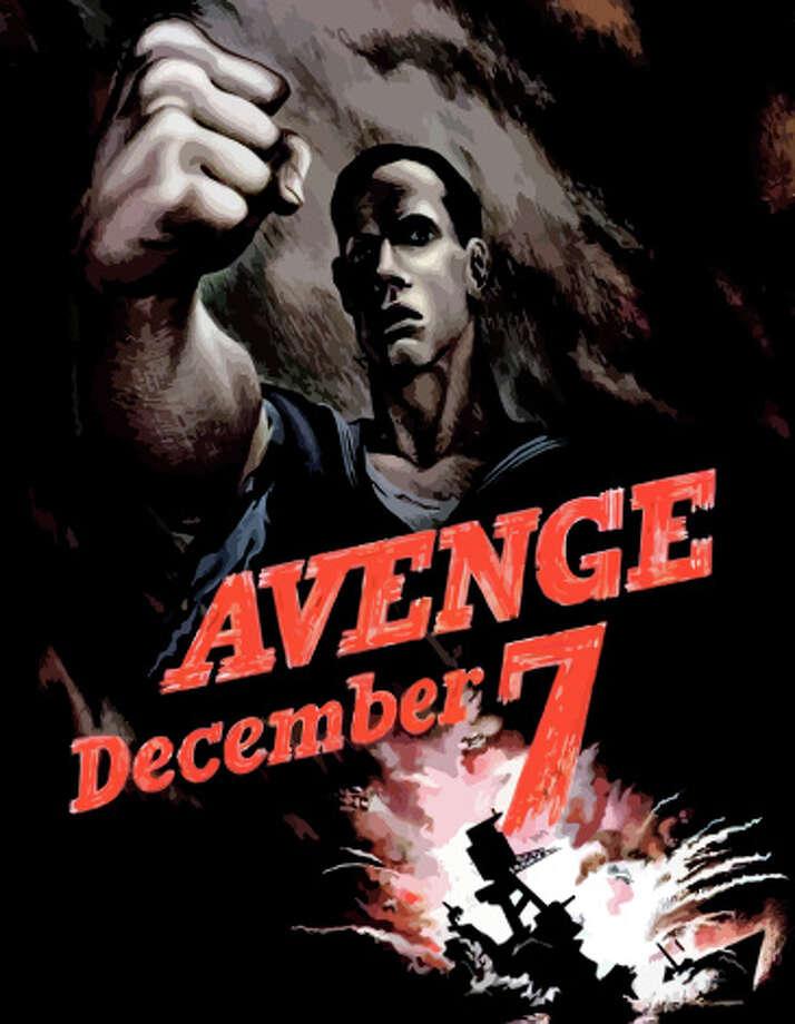 Digitally restored World War II propaganda poster declaring Avenge December 7th. Photo: John Parrot/Stocktrek Images, Getty Images / Stocktrek Images