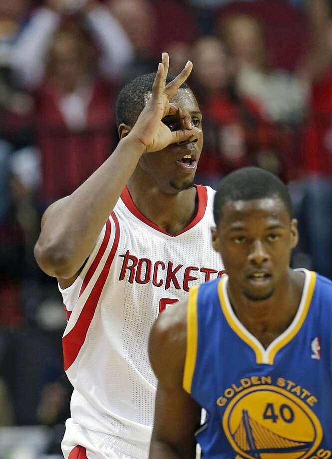 Houston's Terrence Jones reacts after hitting a three-pointer. Photo: David J. Phillip, Associated Press