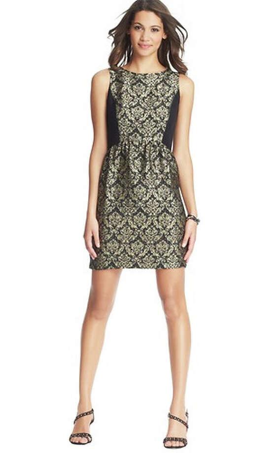 Loft Colorblocked Jacquard Sleeveless Dress, $89.50