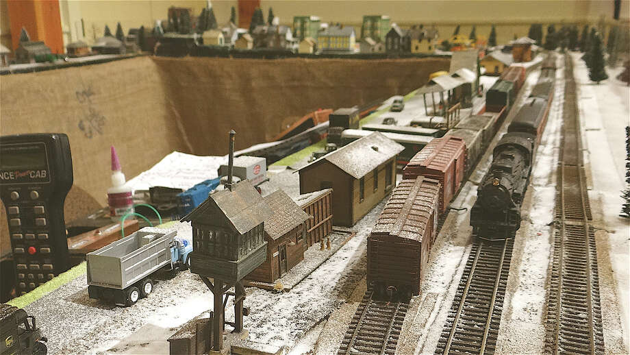 HO model trains from the Naugatuck Valley Train Club at the Holiday Express Train Show at the Fairfield Museum and History Center. Photo: Mike Lauterborn / Fairfield Citizen contributed
