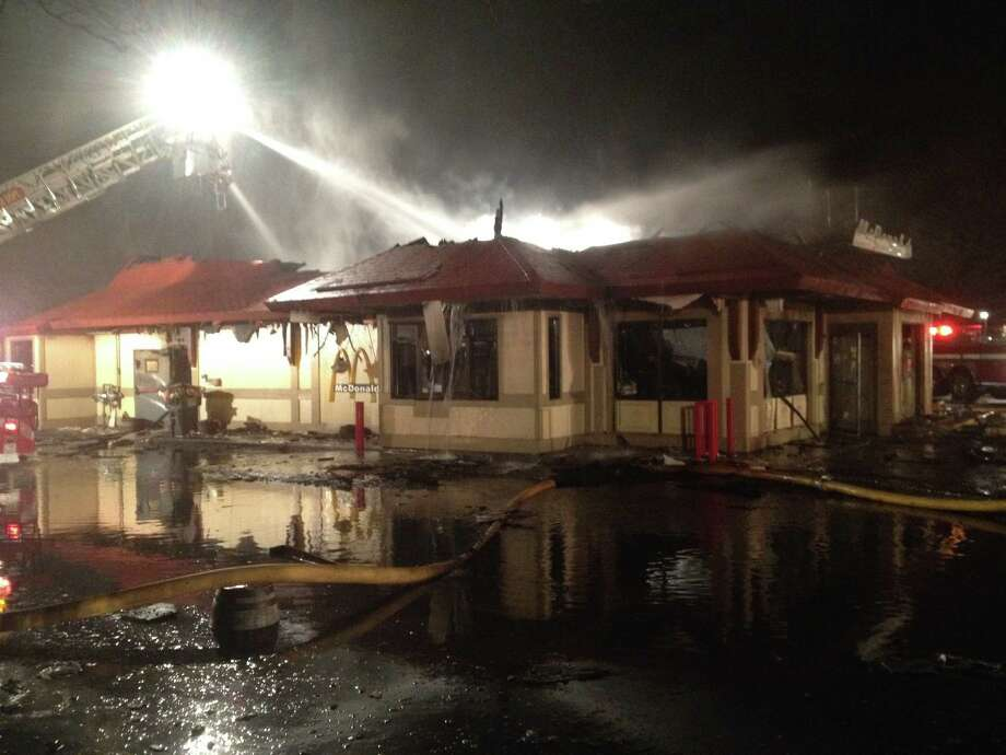 Firefighters tackled a late-night blaze at a Waterford McDonald's. The fire decimated the structure. (Photo courtesy Dan Shaffer)