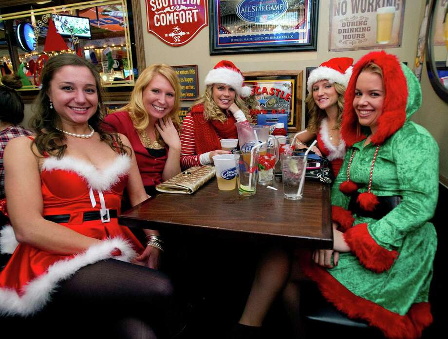 SantaCon in Stamford, Conn., on Saturday, December 7, 2013. Photo: Lindsay Perry / Stamford Advocate