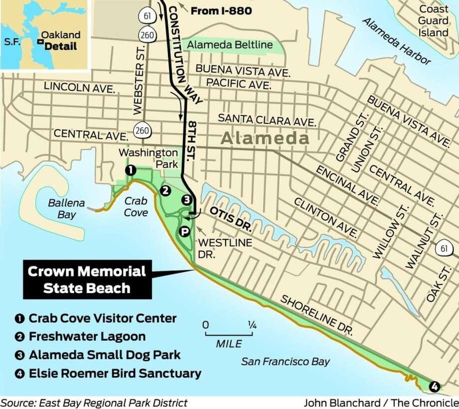 Crown Beach has city views, swimming, too - SFGate