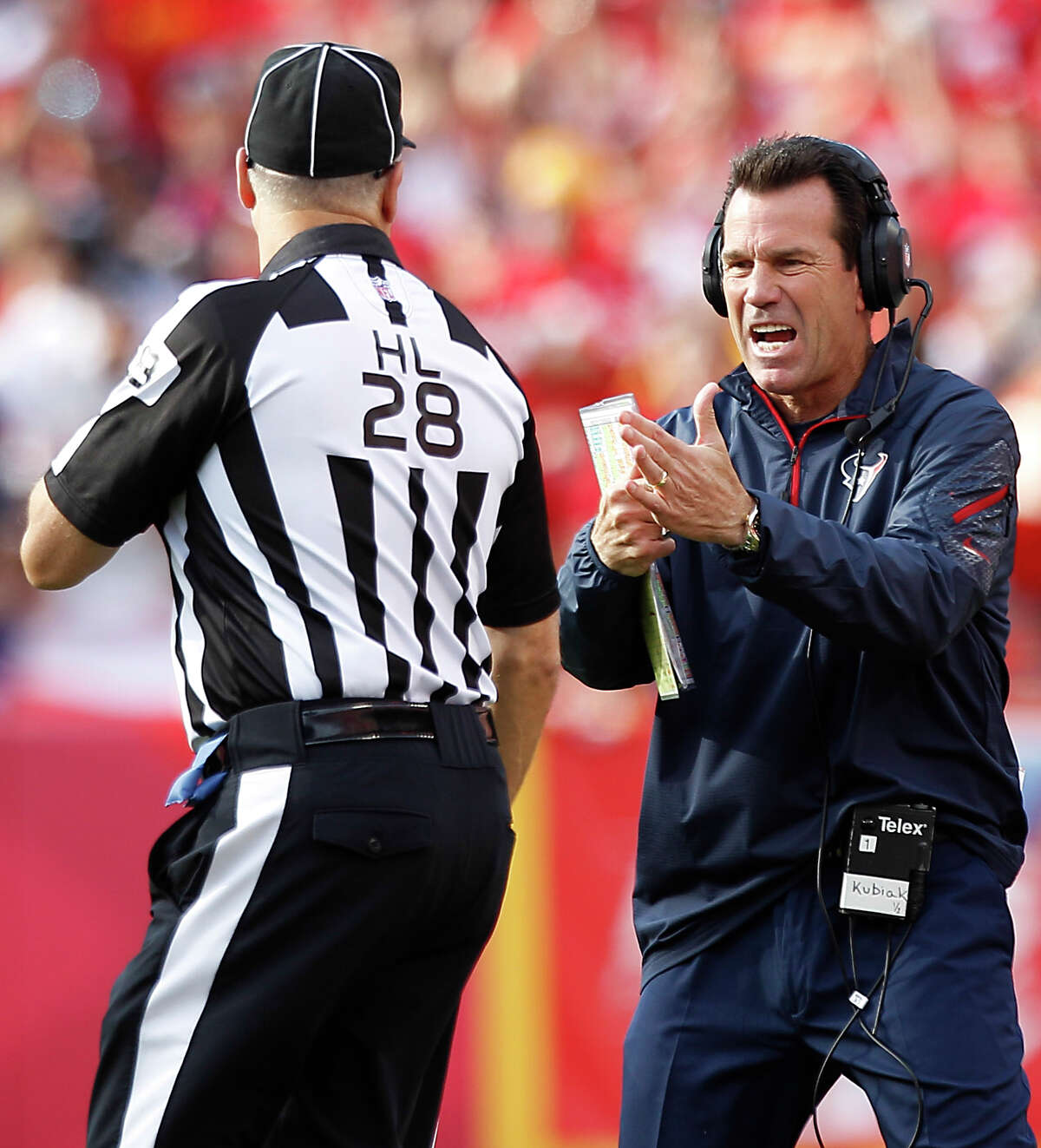 Gary Kubiak might benefit from a timeout from the rigors of the NFL.