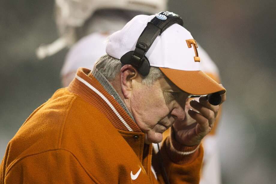 Texas head coach Mack Brown on the sideline. Photo: Jay Janner, McClatchy-Tribune News Service