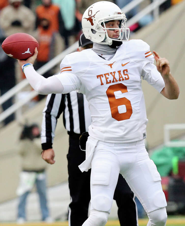 Texas Longhorns quarterback Case McCoy passes against the Baylor Bears during first half action Saturday Dec. 7, 2013 at Floyd Casey Stadium in Waco, Tx. Photo: Edward A. Ornelas, San Antonio Express-News / © 2013 San Antonio Express-News