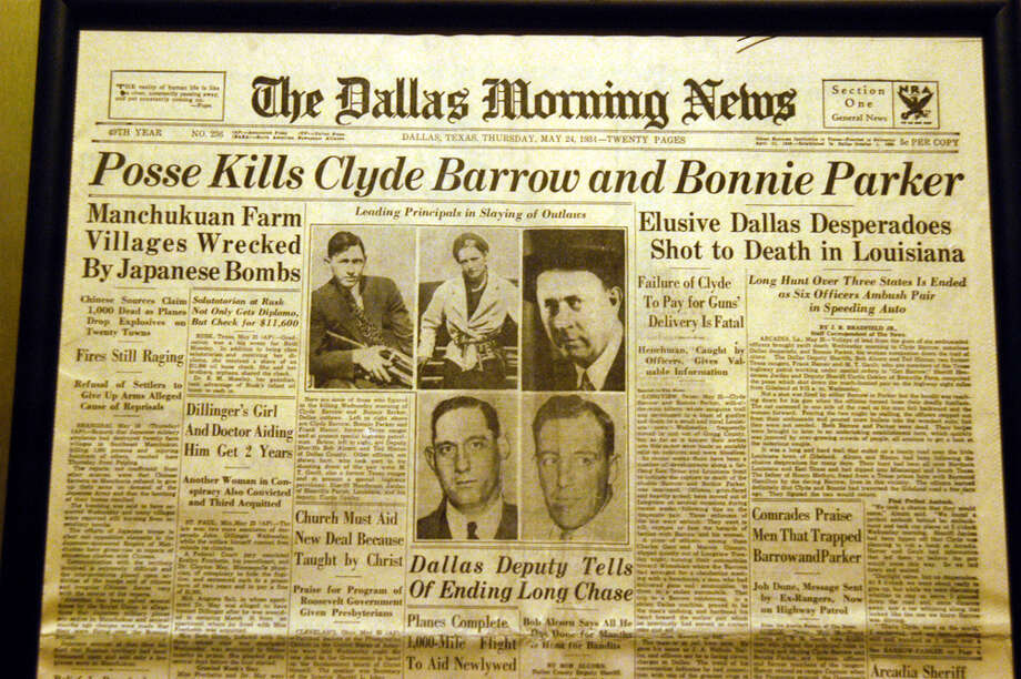 The Dallas Morning News reports the deaths of Clyde Barrow and Bonnie Parker. Photo: Barry King, Getty Images / WireImage