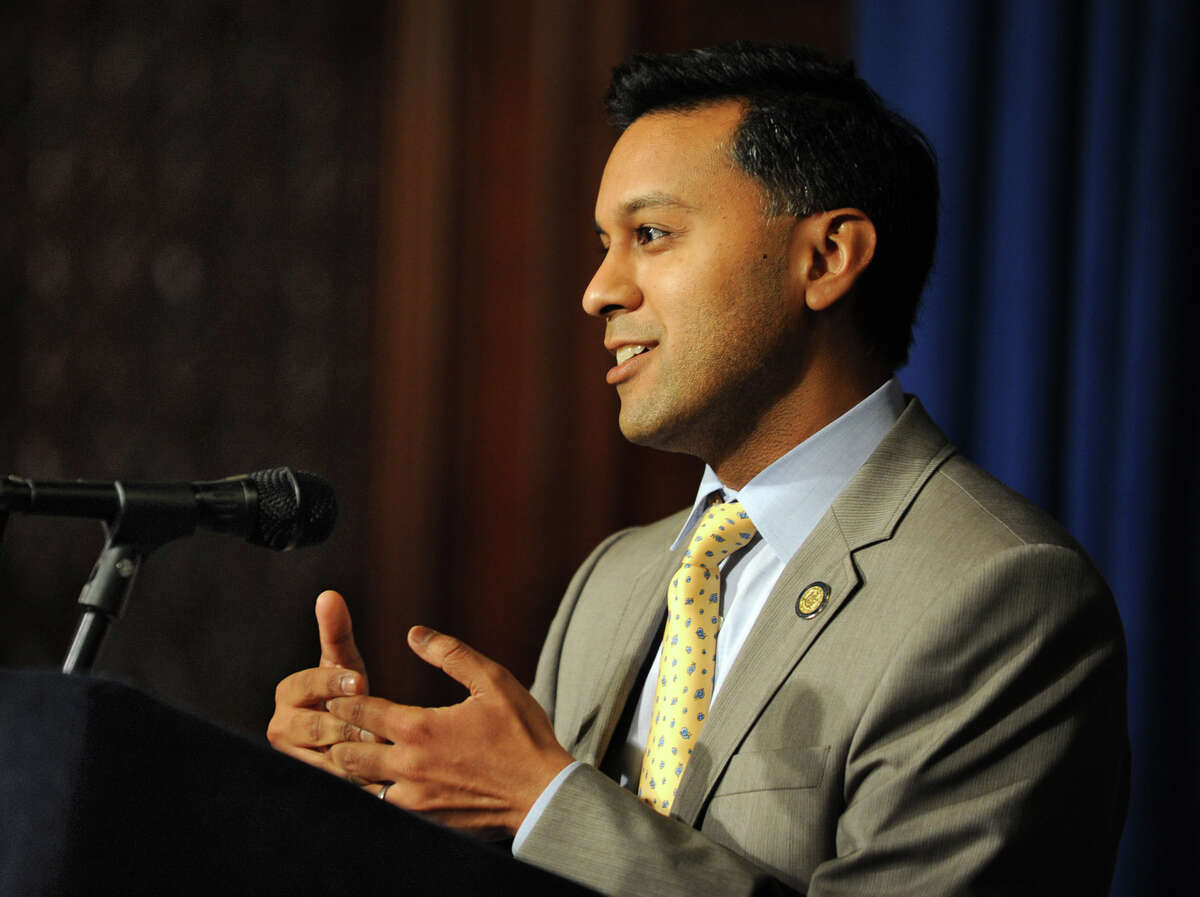 State Health Commissioner Dr. Nirav Shah makes an announcement on federal waiver to help New York State implement cost-saving measures of Medicaid redesign team and reinvest $10 billion in MRT savings during a press conference at the Capitol Monday, Aug. 6, 2012 in Albany, N.Y. (Lori Van Buren / Times Union)