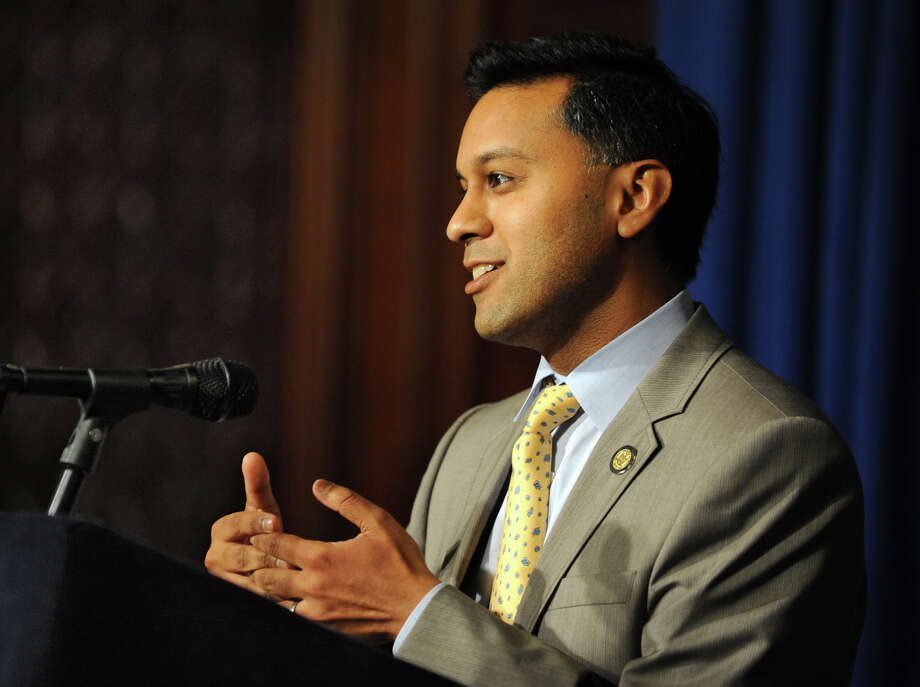 State Health Commissioner Dr. Nirav Shah makes an announcement on federal waiver to help New York State implement cost-saving measures of Medicaid redesign team and reinvest $10 billion in MRT savings during a press conference at the Capitol Monday, Aug. 6, 2012 in Albany, N.Y. (Lori Van Buren / Times Union) Photo: Lori Van Buren / 00018739A