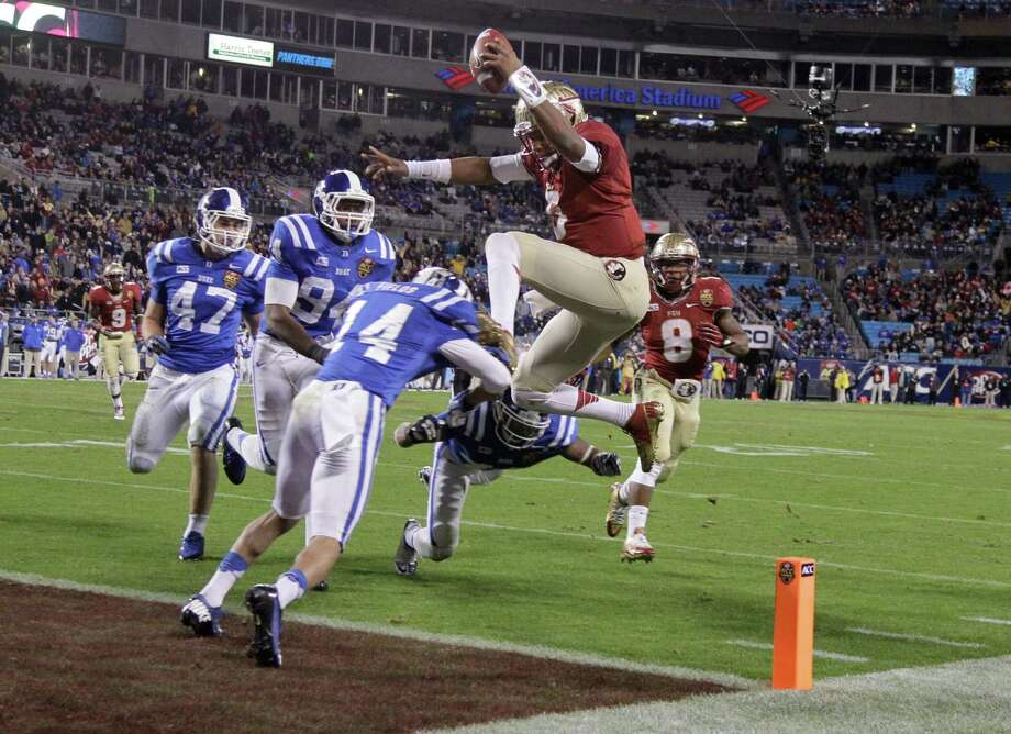 In a tidy final year for the BCS, it didn't require a great leap of logic to match Florida State and Jameis Winston, above, against Auburn in the championship game. Photo: Bob Leverone, FRE / FR170480 AP