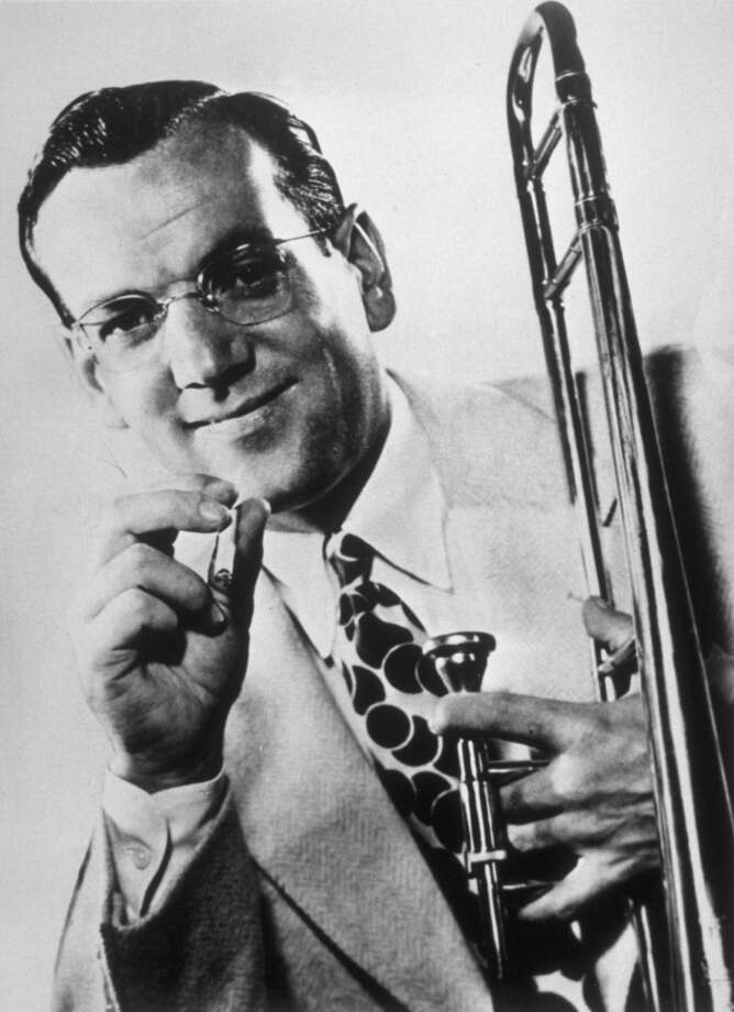Bandleader Glenn Miller was traveling to France to entertain troops during World War II, but his plane was lost over the English Channel. Photo: Keystone, Getty Images