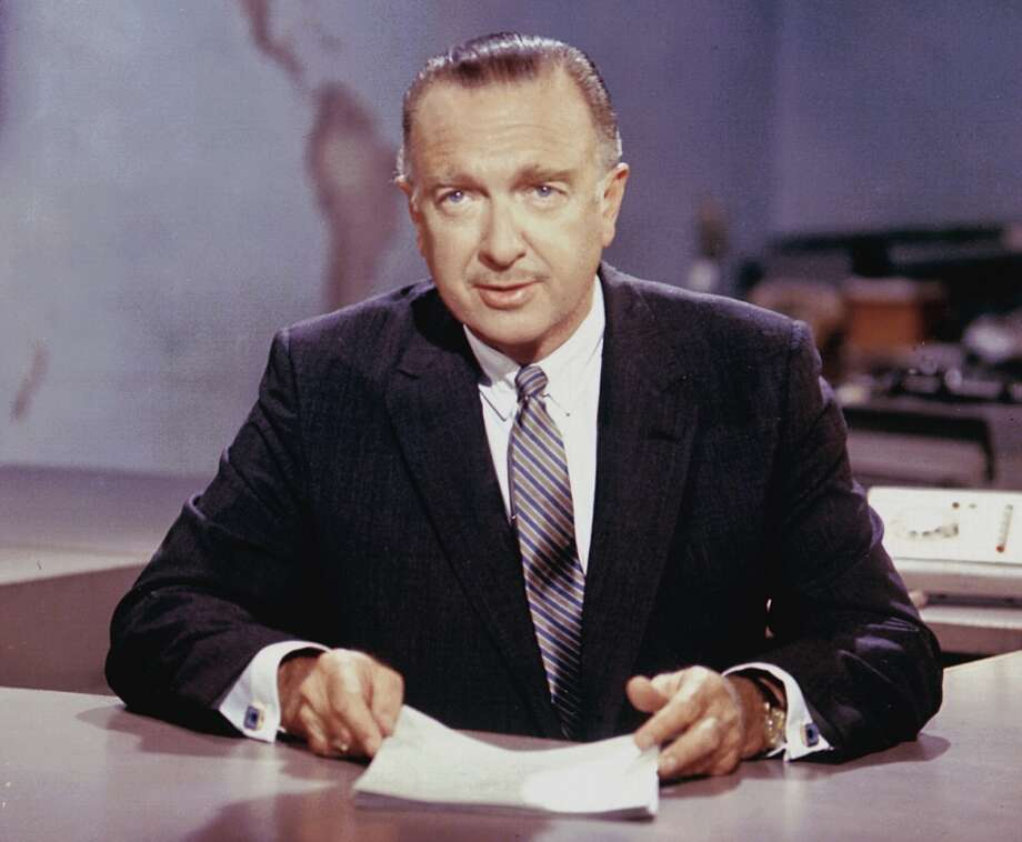 Walter Cronkite, America's most trusted man -- for decades. Photo: CBS Photo Archive, Getty Images