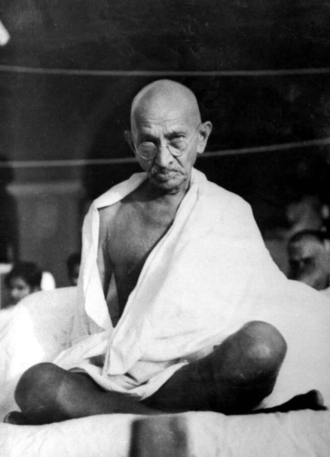 Mohandas Gandhi, a reader suggestion. 20th century humanitarian and political leader. Photo: Time Life Pictures, Time & Life Pictures/Getty Image