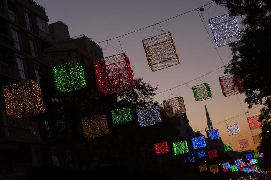 MADRID: Purificación García designed the Christmas lights that illuminate a street in the tony Goya neighborhood. Photo: Gabriel Solera, Getty Images