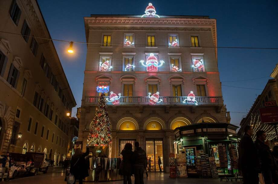 ROME:  As you'd expect, the Fendi Palace at Largo Goldoni is dressed to the nines during the holidays. Photo: Giorgio Cosulich, Getty Images