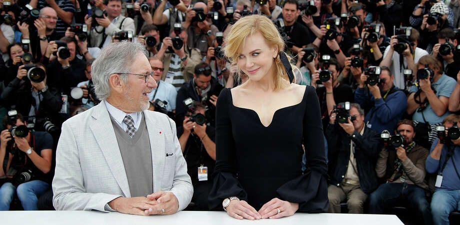 Jury president Steven Spielberg, left, and Nicole Kidman pose for photographers during a photo call for the jury at the 66th international film festival, in Cannes, southern France, Wednesday, May 15, 2013. Photo: Francois Mori, ASSOCIATED PRESS / AP2013