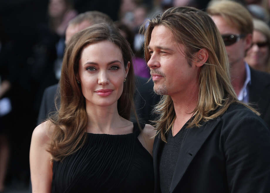 Brad Pitt and Angelina Jolie arrive for the World Premiere of World War Z  at a central London cinema, Sunday, June 2, 2013. Photo: Joel Ryan, Joel Ryan/Invision/AP / AP2013