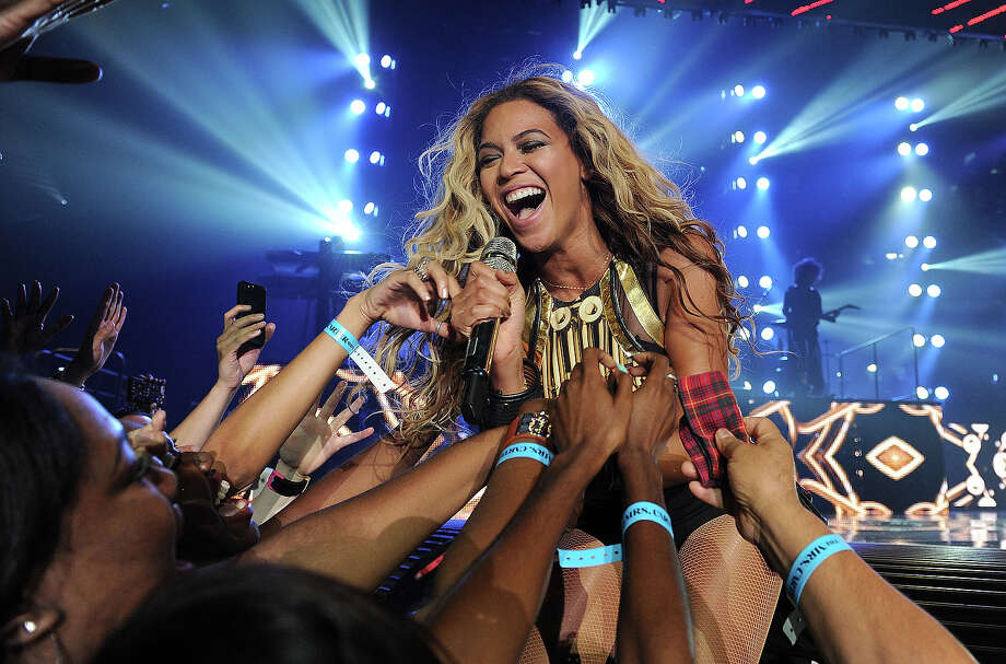 "Singer Beyonce performs on her ""Mrs. Carter Show World Tour 2013"", on Saturday June 29, 2013, in Las Vegas, Nevada. Photo: Frank Micelotta, Frank Micelotta/Invision/AP / Invision2013"