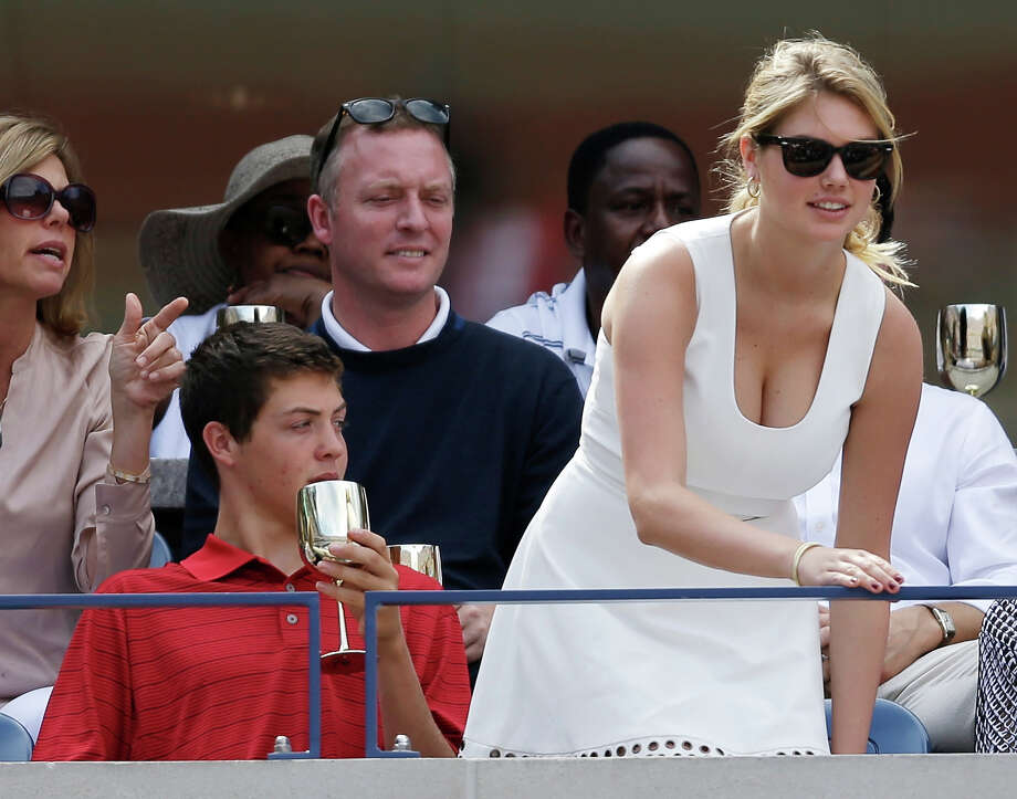Super model Kate Upton takes her seat during the semifinals of the 2013 U.S. Open tennis tournament, Saturday, Sept. 7, 2013, in New York. Photo: Darron Cummings, ASSOCIATED PRESS / AP2013