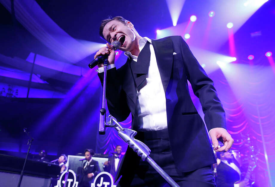 Justin Timberlake performs at his Post Grammy Concert at the Palladium, Sunday, Feb. 10, 2013, in Los Angeles. Photo: Todd Williamson, Todd Williamson/Invision/AP / AP2013