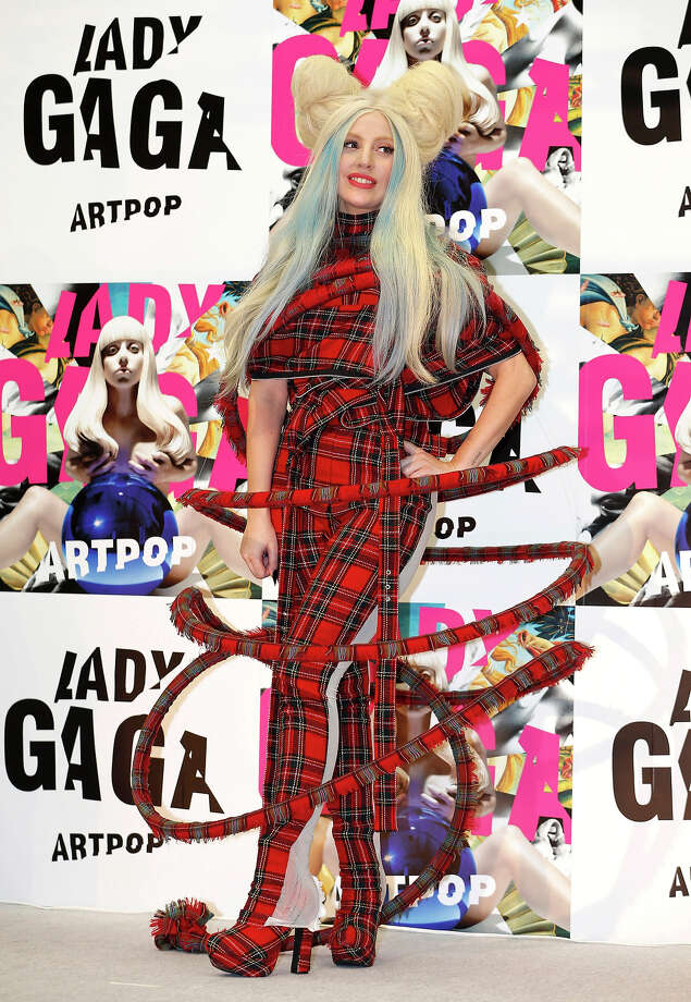 "Lady Gaga poses for photographers during a press conference to promote her album ""ARTPOP"" in Tokyo, Sunday, Dec. 1, 2013. Photo: Shizuo Kambayashi, ASSOCIATED PRESS / AP2013"
