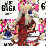 "Lady Gaga poses for photographers during a press conference to promote her album ""ARTPOP"" in Tokyo, Sunday, Dec. 1, 2013."