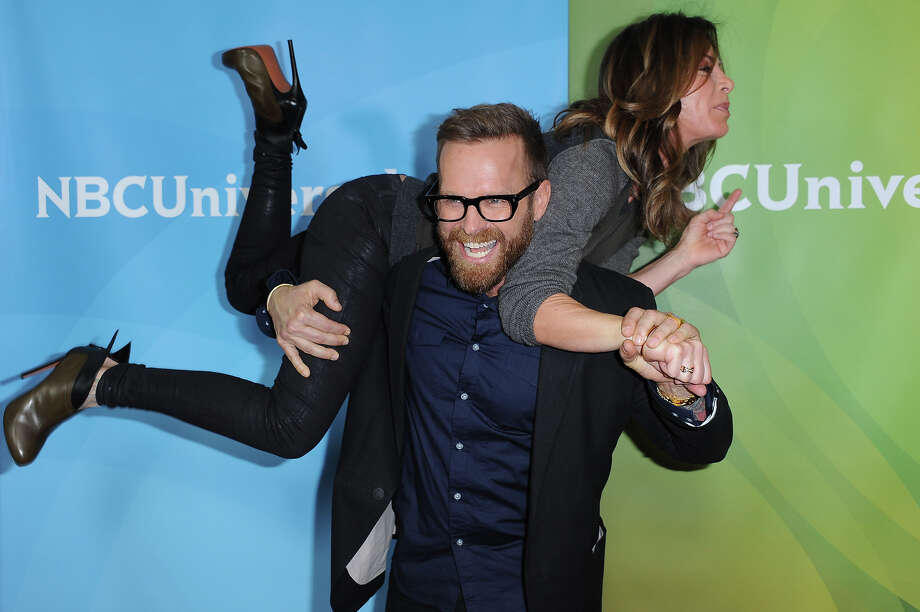 Bob Harper and Jillian Michaels, top, attend the NBC Universal Winter TCA Tour at the Langham Huntington Hotel, Sunday, Jan. 6, 2013, in Pasadena, Calif. Photo: Richard Shotwell, Richard Shotwell/Invision/AP / AP2013