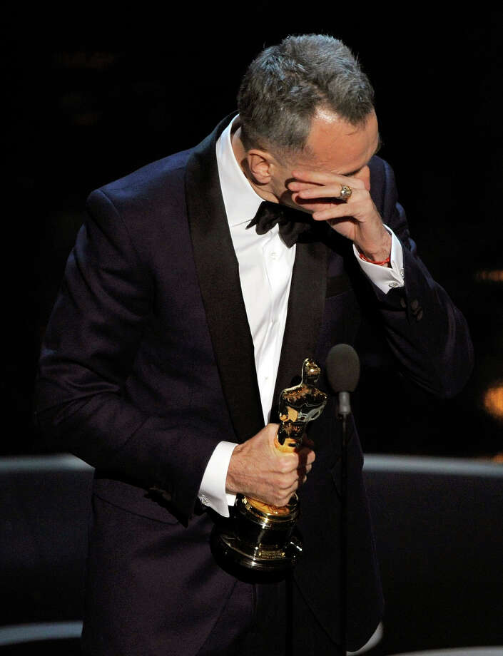 "Daniel Day-Lewis accepts the award for best actor in a leading role for ""Lincoln"" during the Oscars at the Dolby Theatre on Sunday Feb. 24, 2013, in Los Angeles. Photo: Chris Pizzello, Chris Pizzello/Invision/AP / AP2013"