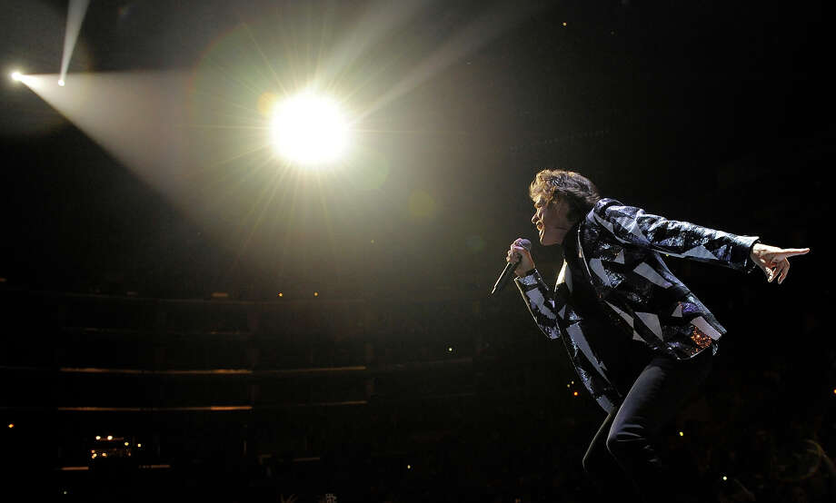 "Mick Jagger of the Rolling Stones performs on the kickoff of the band's ""50 and Counting"" tour at the Staples Center on Friday, May 3, 2013, in Los Angeles. Photo: Chris Pizzello, Chris Pizzello/Invision/AP / AP2013"