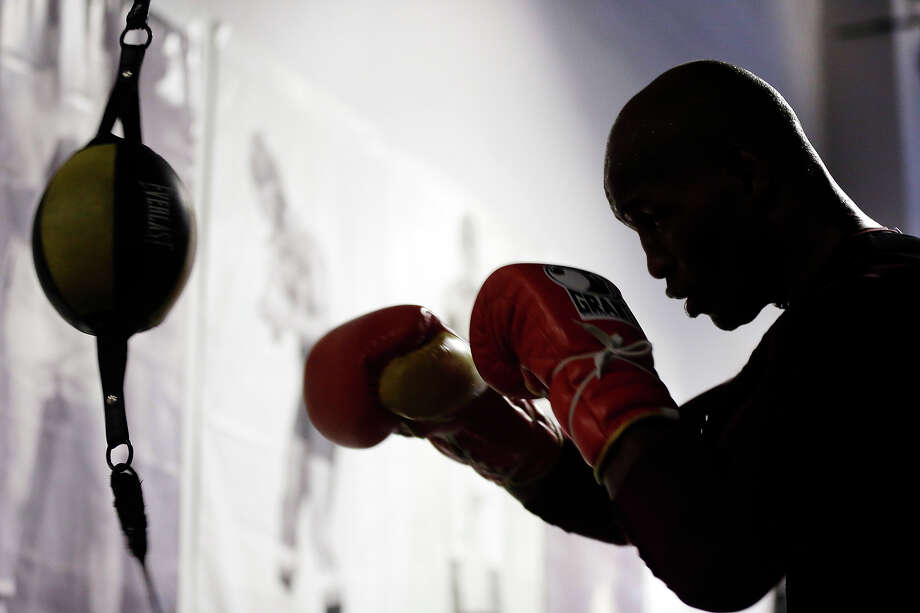 Boxer Bernard Hopkins trains during a media workout, Tuesday, Feb. 19, 2013, in Philadelphia. Hopkins is scheduled to fight Tavoris Cloud on March 9 at the Barclays Center in New York. Photo: Matt Rourke, ASSOCIATED PRESS / AP2013