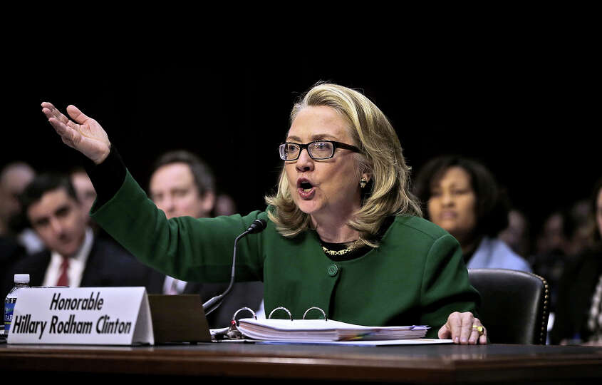 Secretary of State Hillary Rodham testifies on Capitol Hill in Washington, Wednesday, Jan. 23, 2013,