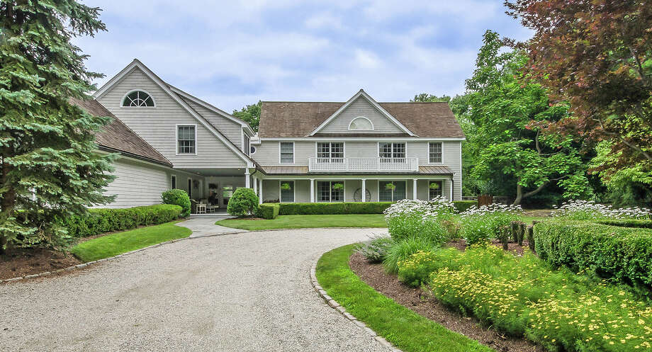 The house at 4 Manitou Road is on the market for $5.85 million. Photo: Contributed Photo / Westport News contributed
