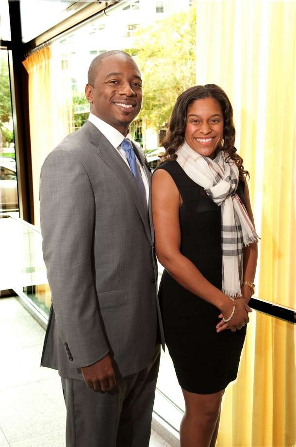 Dr. Brett Warfield and Sharita Warfield attend the Houston Medical Forum's Scholarship Gospel Brunch, Sunday. Photo: Lloyd Gite