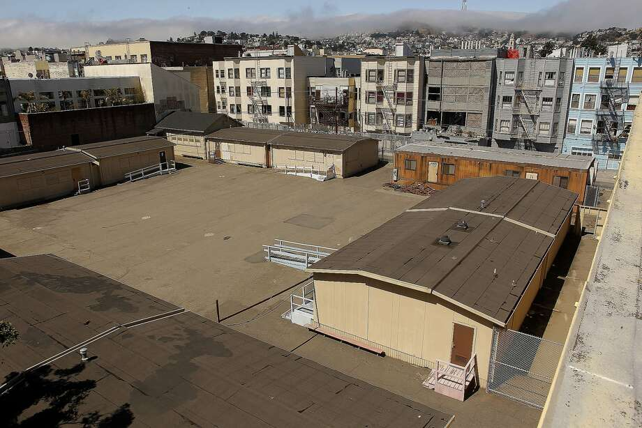 1950 Mission, an old San Francisco Unified School District property, is one of the sites where the city is building affordable housing — 120 units in this case. Photo: Michael Macor, The Chronicle