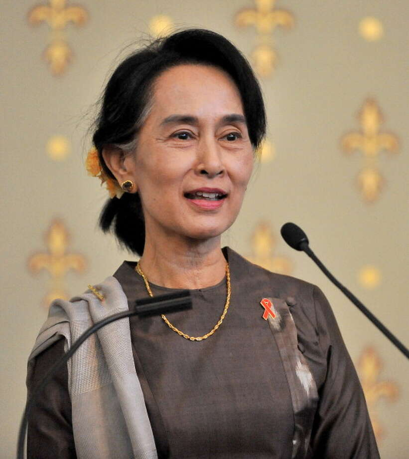 Aung San Suu Kyi was awarded the Nobel Peace Prize in 1991 for her non-violent struggle for democracy and human rights. Photo: Pool, Getty / 2013 Getty Images