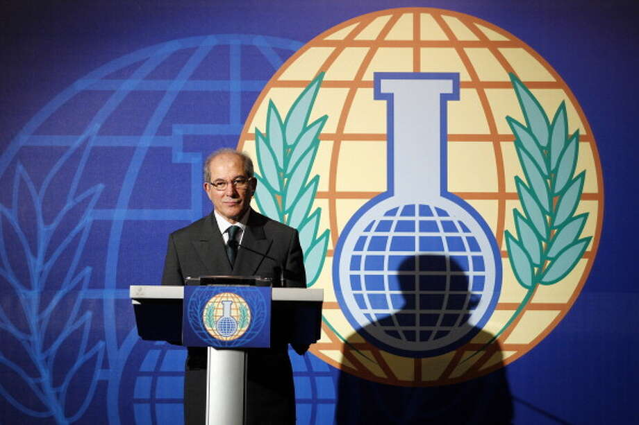 Organization for the Prohibition of Chemical Weapons (OPCW) was awarded the Nobel Peace Prize in 2013 for its efforts to rid the world of chemical weapons Photo: AFP, Getty / 2013 AFP