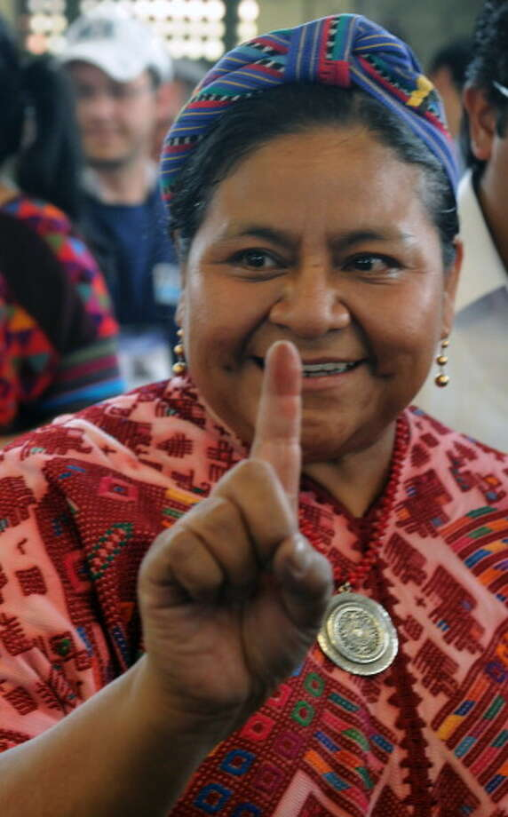 Rigoberta Menchu was awarded the Nobel Peace Prize in 1992 for her efforts towards social justice and ethno-cultural reconciliation. Photo: ORLANDO SIERRA, Getty / 2011 AFP