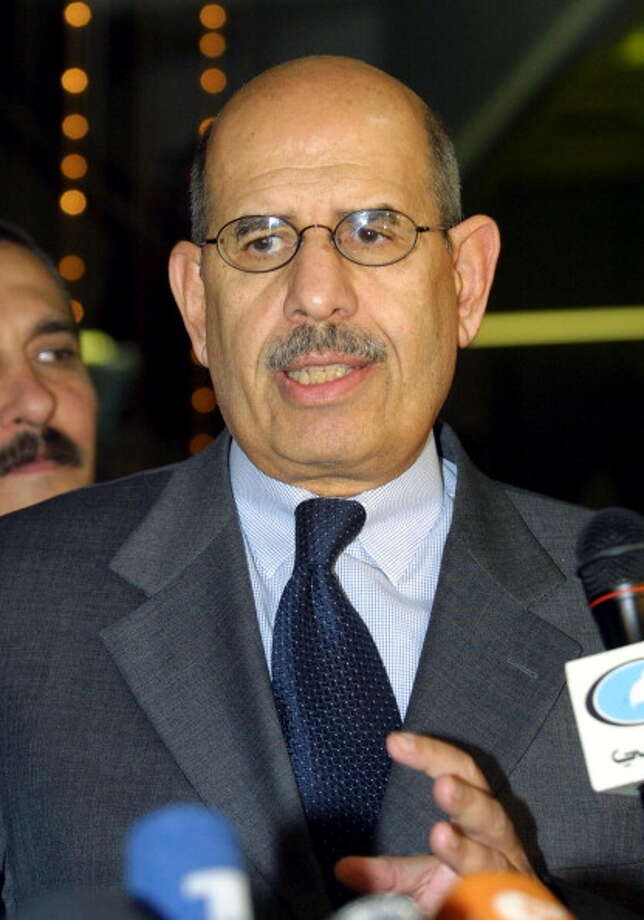 Mohamed ElBaradei, head of the International Atomic Energy Agency (IAEA) was awarded the Nobel Peace Prize in 2005 for his efforts to prevent nuclear energy from being used for military purposes. Photo: JOSEPH BARRAK, Getty / 2011 AFP