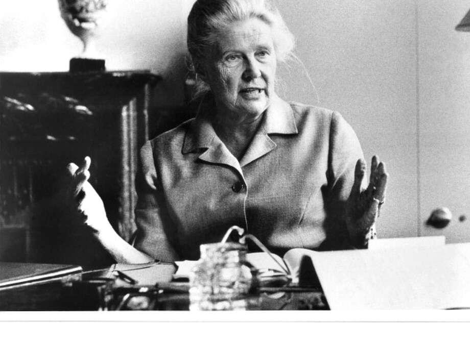 Alva Myrdal was awarded the Nobel Peace Prize in 1982 for her work in the disarmament negotiations of the United Nations. Photo: Keystone-France, Getty / 1977 Keystone-France