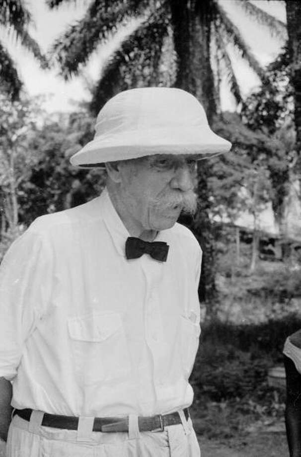 Albert Schweitzer was awarded the Nobel Peace Prize in 1952 for his work as a missionary surgeon. Photo: Hulton Archive, Getty / 2005 Getty Images